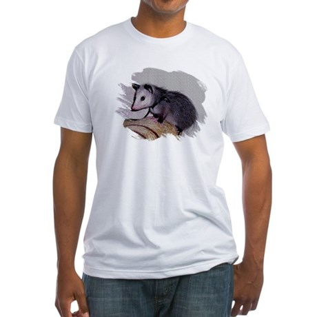 Baby Possum Fitted T-Shirt
