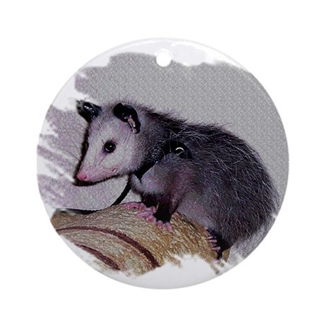 Baby Possum Ornament (Round)