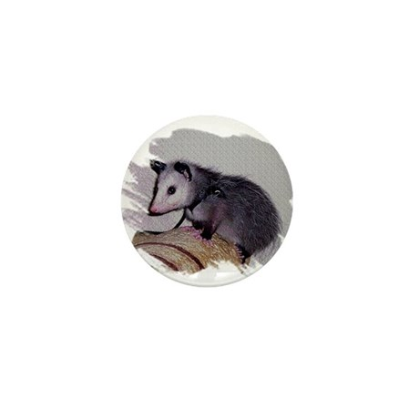 Baby Possum Mini Button (10 pack)