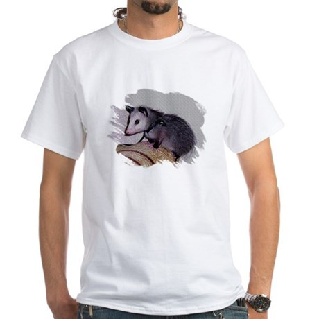 Baby Possum White T-Shirt