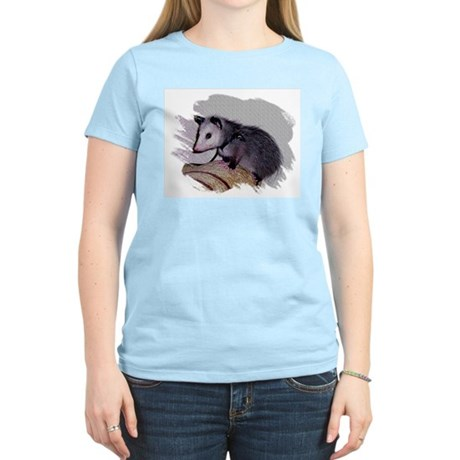 Baby Possum Women's Pink T-Shirt