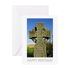 Birthday Card With Celtic Cross Northumberland