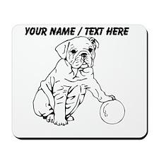 Custom Bulldog Puppy Sketch Mousepad