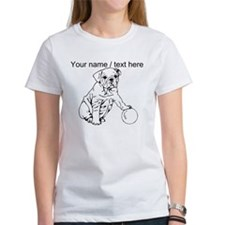 Custom Bulldog Puppy Sketch T-Shirt