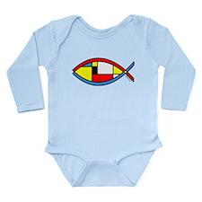 Colorful Fish Long Sleeve Infant Bodysuit