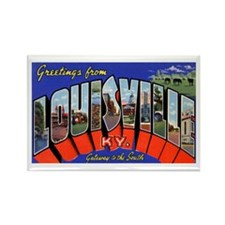 Louisville Kentucky Greetings Rectangle Magnet