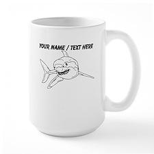 Custom Great White Shark Sketch Mug