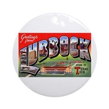 Lubbock Texas Greetings Ornament (Round)