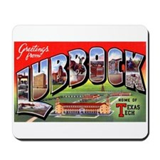 Lubbock Texas Greetings Mousepad