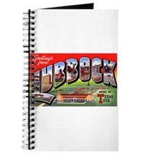 Lubbock Texas Greetings Journal