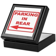 Rear parking Keepsake Box
