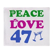 Peace Love 47 Throw Blanket
