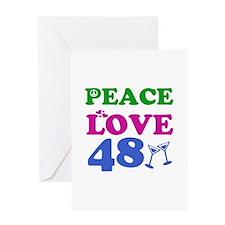 Peace Love 48 Greeting Card