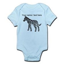 Custom Zebra Sketch Body Suit