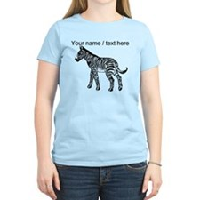 Custom Zebra Sketch T-Shirt