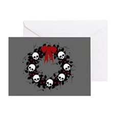 Gothic Christmas Wreath Greeting Card