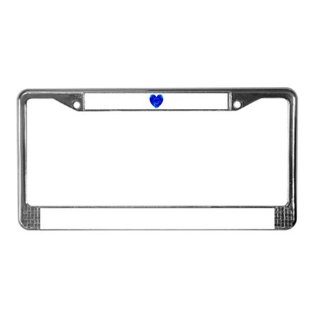 Heart of Seeds License Plate Frame