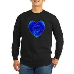 Heart of Seeds Long Sleeve Dark T-Shirt