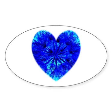 Heart of Seeds Oval Sticker