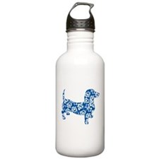 Aloha Doxie in Blue Sports Water Bottle