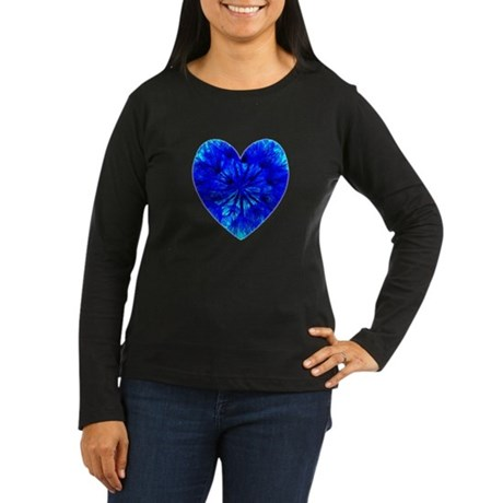Heart of Seeds Women's Long Sleeve Dark T-Shirt