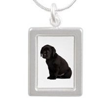 Labrador Retriever Silver Portrait Necklace
