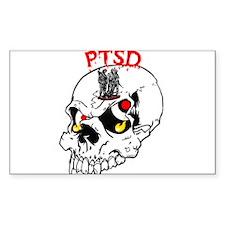 PTSD SKULL Oval Decal