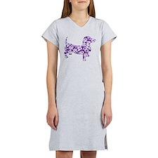 Aloha Doxies in Purple Women's Nightshirt