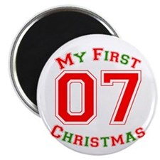 "My First Christmas 07 2.25"" Magnet (100 pack)"