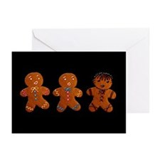 Appalling Gothic Gingerbread Greeting Cards (Pk of