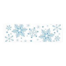Skull Snowflakes Wall Decal