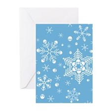 Skull Snowflakes Greeting Cards (Pk of 20)