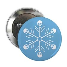 "Skull Snowflakes 2.25"" Button"