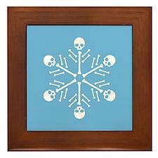 Skull Snowflakes Framed Tile
