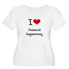 I Love CHEMICAL ENGINEERING Plus Size T-Shirt