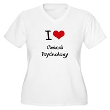 I Love CLINICAL PSYCHOLOGY Plus Size T-Shirt