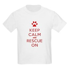 Keep Calm And Rescue On Animal Rescue T-Shirt