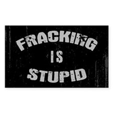 Fracking Is Stupid Decal