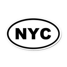 NYC New York City Oval Car Magnet