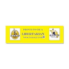 Yolo Libertarian Car Magnet 10 x 3