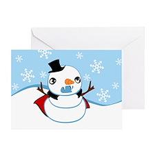 Vampire Snowman Greeting Card