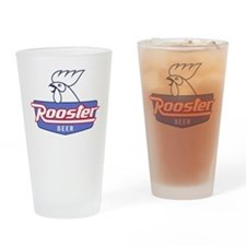Rooster Beer Pint Glass