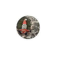 Grungy Santa Doll Mini Button