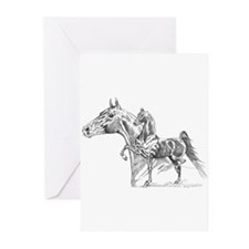 Saddlebred  Greeting Cards (Pk of 10)
