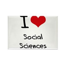 I Love SOCIAL SCIENCES Rectangle Magnet