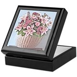 Floral Basket Keepsake Box