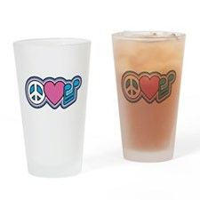PEACE HEART MUSIC Drinking Glass