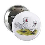 white Polish Chickens Button