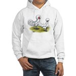 white Polish Chickens Hooded Sweatshirt