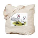 white Polish Chickens Tote Bag